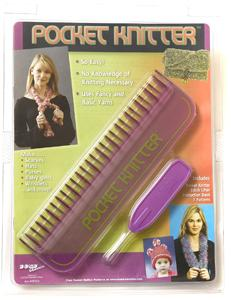 "Bond 20309 Pocket Knitter 9"" with 7 Patterns Uses, Chunky Bulky Yarns"