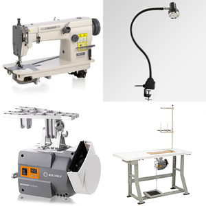 """Reliable MSK-481 Chainstitch & Reverse Sewing Machine, 5/10mm Foot Lift, 11""""Arm, Auto Oil, DC Motor Power Stand"""