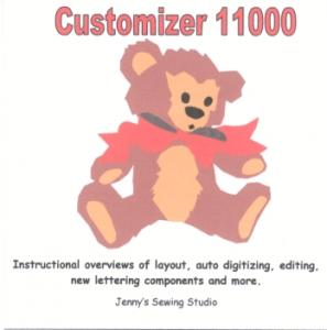 Jenny's Sewing Studio Instructional CD For The Customizer 11000 Software for Janome