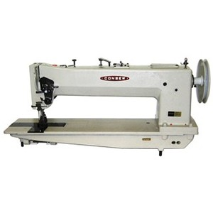 "1465: Consew 745R-10P, 10"" Arm & Puller, Double Needle Feed, Walking Foot, Sewing Machine, Safety Clutch,"