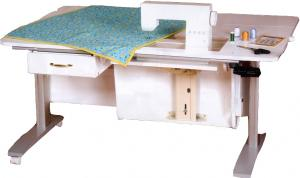 """Horn Demo 3000 Electric Lift Sewing Cutting Embroidery Craft Table 60"""" Wide, 12.5x24"""" Machine Opening, Filler Plate Insert, for Pick Up Baton Rouge"""