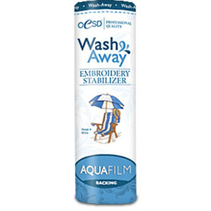 "OESD HBAQXW-8WashAway Aqua Film Water Soluble Topping Embroidery Stabilizer 8"" Inch x 10 Yards Roll"