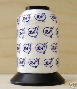8904: Robison Anton 222-W Spun Poly Filament Embroidery Bobbin Thread 1100Yds 60wt White