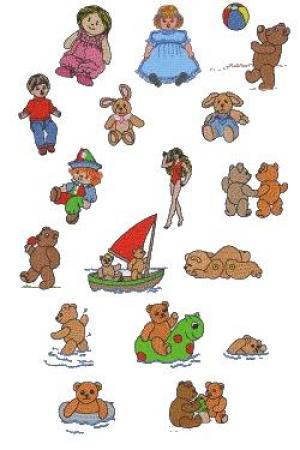 Down Home Dreams 141 Dolls and Bears 2 Embroidery Designs Floppy Disk