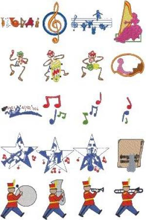 Down Home Dreams 146 Music, Music, Music Embroidery Designs Floppy Disk