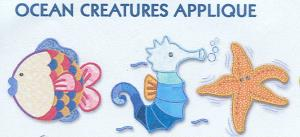 Smartneedle Ocean Creatures Applique Collection 5X7 Embroidery Designs Multi-Formatted CD