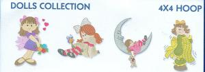 Smartneedle Dolls Collection 4x4 Embroidery Designs Multi-Formatted CD