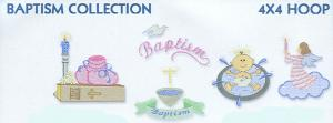 Smartneedle Baptism Collection 4X4 Embroidery Designs Multi-Formatted CD