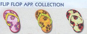 Smartneedle Flip Flop Applique 4X4 Embroidery Designs Multi-Formatted CD