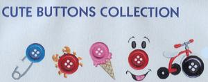 Smartneedle Cute Buttons 4X4 Embroidery Designs Multi-Formatted CD