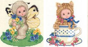 Sudberry D5900 Animal Babies 15 Cross Stitch Embroidery Multi Format Designs on CD