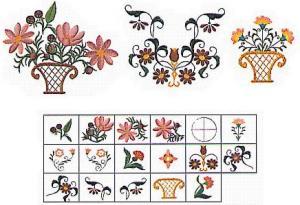 Elna MC12 Big Floral II Envision Embroidery Card