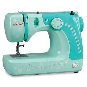 Janome, Hello Kitty, 11706, 3/4 Size, Sewing Machine, - Same as, Janome 1017, as Janome Jem, HF106, 609, 639, 1017, 1117S, Janome 11706 Hello Kitty 6/17 Stitches, 3/4 Freearm Sewing Machine GREEN, Buttonholes 550SPM 12Lb (Jem HF106 609 639, 1017S 1117, 3128, Kenmore 11206)