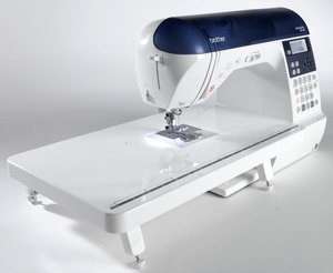 Brother NX-450Q Floor Model DEMO 294 Stitch Computer Sewing Machine NX450Q ((Rep by NS570Q) 3Fonts, 10x1StepBH, Threader & Trimmer, Ext Table