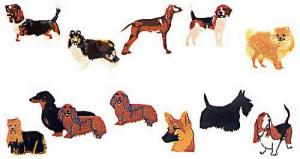 Elna MC27 Dog Envision Embroidery Card