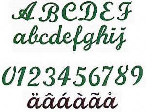 Elna MC28 Monogram (Script) Envision Embroidery Card