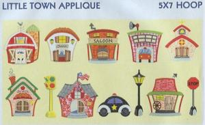Smartneedle Little Town Collection Applique Collection 5X7 Embroidery Designs Multi-Formatted CD