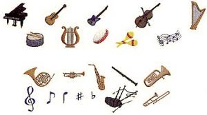 Elna MC29 Musical Instrument Envision Embroidery Card