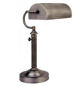 Verilux VD05NA1 Antiqued Nickel Princeton Desk Bankers Lamp 27W 10000Hrs