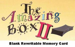 Amazing Designs Amazing Box Blank Rewritable Embroidery Memory Card Only, for Bernina Artista .art and Pfaff .pcs Formats, 6 Designs to 50000 Stitches