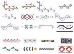 Elna MC35 Border Envision Embroidery Card
