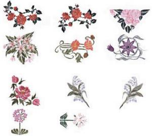 Elna MC39 Floral Envision Embroidery Card