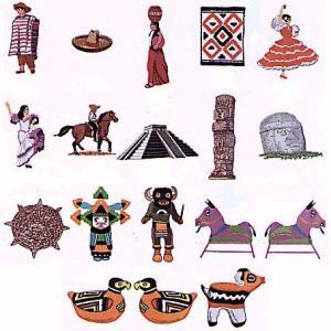 Elna U101 Gobelin Mexican Designs Embroidery Card