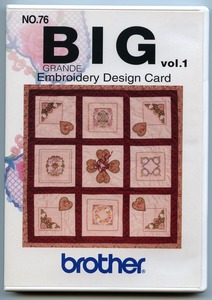 11784: Brother SA376 Card No.76 Big Floral Embroidery Designs 16 Flower Frames