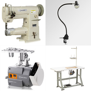 Reliable 4300CW (MSK1341B, JukiLS) Cylinder Bed Needle Feed Walking Foot Sewing Machine, Safety Clutch, 16mm Foot Lift, Servo Motor Power Stand, Lamp