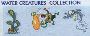 Smartneedle Water Creatures Applique Collection 5X7 Embroidery Designs Multi-Formatted CD