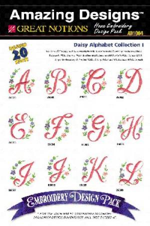 Amazing Designs / Great Notions 1094 Daisy Alphabet Multi-Formatted CD