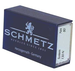 12215: Schmetz NS130N-90 Top Stitch Oversize Eye 100 Sewing Machine Needles Size 90