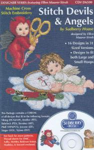 Sudberry House D6500 Stitch Devils & Angels Cross Stitch Embroidery Designs Multi-Formatted CD