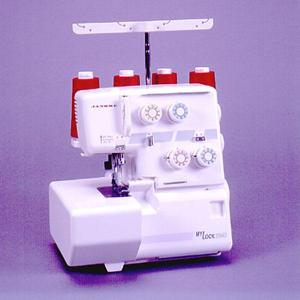 Janome MyLock 204D Overlock Serger 3 & 4 Thread, Color Coded, Built-in Roll Hem, Diff Feed, 2.-5.7mm Cutting Width, Demo