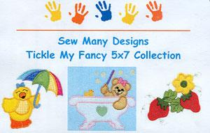 Sew Many Designs Tickle My Fancy Applique Designs Multi-Formatted CD