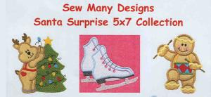 Sew Many Designs Santa Surprise Applique Designs Multi-Formatted CD