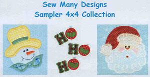 Sew Many Designs Sampler Applique Designs Multi-Formatted CD
