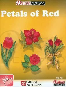 OESD #220 Petals Of Red Embroidery Card