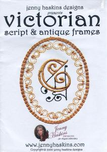 Jenny Haskins Victorian Script & Antique Frames Multi-Formatted CD