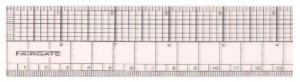 "Fairgate FG91-318B Transparent Graph Ruler 18"" English/Metric"