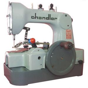 Chandler CM491 Hand Crank Operated, 6-Second, 12-Stitch, 2&4 Hole Portable Button Sewer Sewing Machine with Unassembled Pedestal Stand* Non-Electric