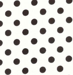 Fabric Finders 15 Yd Bolt 9.34 A Yd 434 100 percent Pima Cotton 60 inch White with Large Black Spot Pique