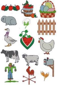 Down Home Dreams 102 Country Living Embroidery Designs Floppy Disk