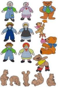 Down Home Dreams 103 Dolls and Bears Embroidery Designs Floppy Disk