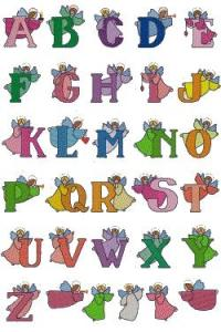 Down Home Dreams 109 Angelbets Alphabet Embroidery Designs Floppy Disk