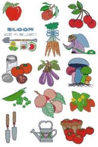 Down Home Dreams 111 Fresh from the Garden Embroidery Designs Floppy Disk