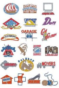 Down Home Dreams 114 Business Symbols Embroidery Disk