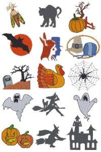 Down Home Dreams 115 Autumn Holidays Embroidery Disk