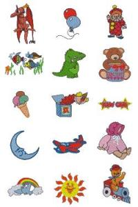 Down Home Dreams 121 Cute for Kids Embroidery Designs Floppy Disk