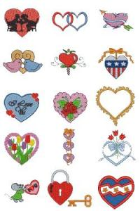 Down Home Dreams 127 Hearts Afire Embroidery Designs Floppy Disk